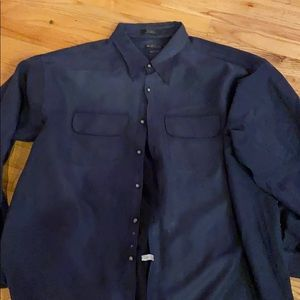 Great xxl men's soft suede feeling dark gray shirt